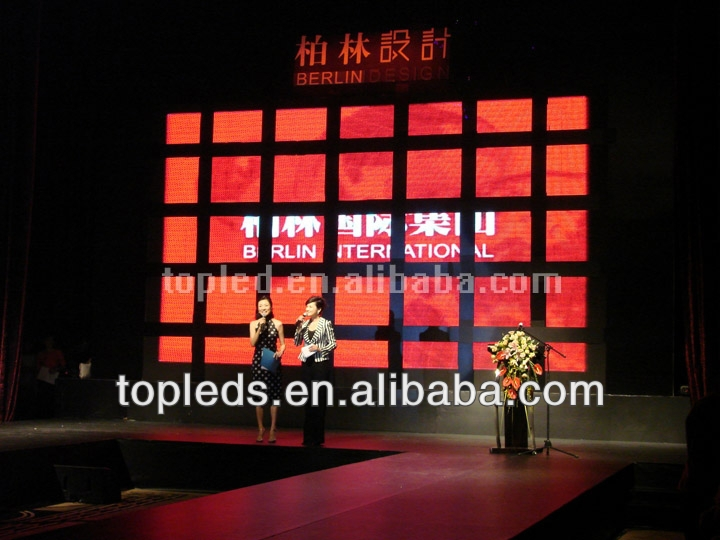 P6.25 full color led indoor display led curtain led moving message manufacturers