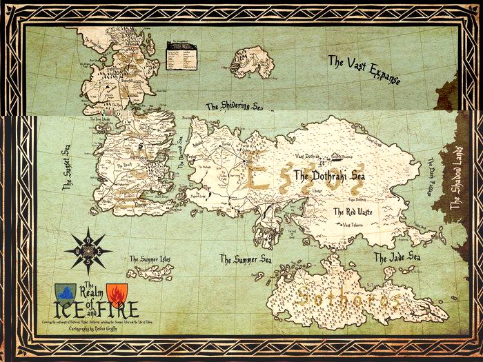 Weltkarte Game Of Thrones