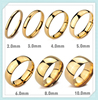 2mm-10mm width high mirror polish wedding band stainless steel chinese gold rings for men and women