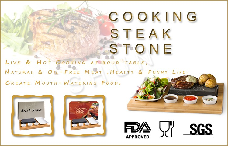 Restaurant Popular Cooking Lava Rock Grill And Steak Lava Stone Cooking Steak Set Cookware
