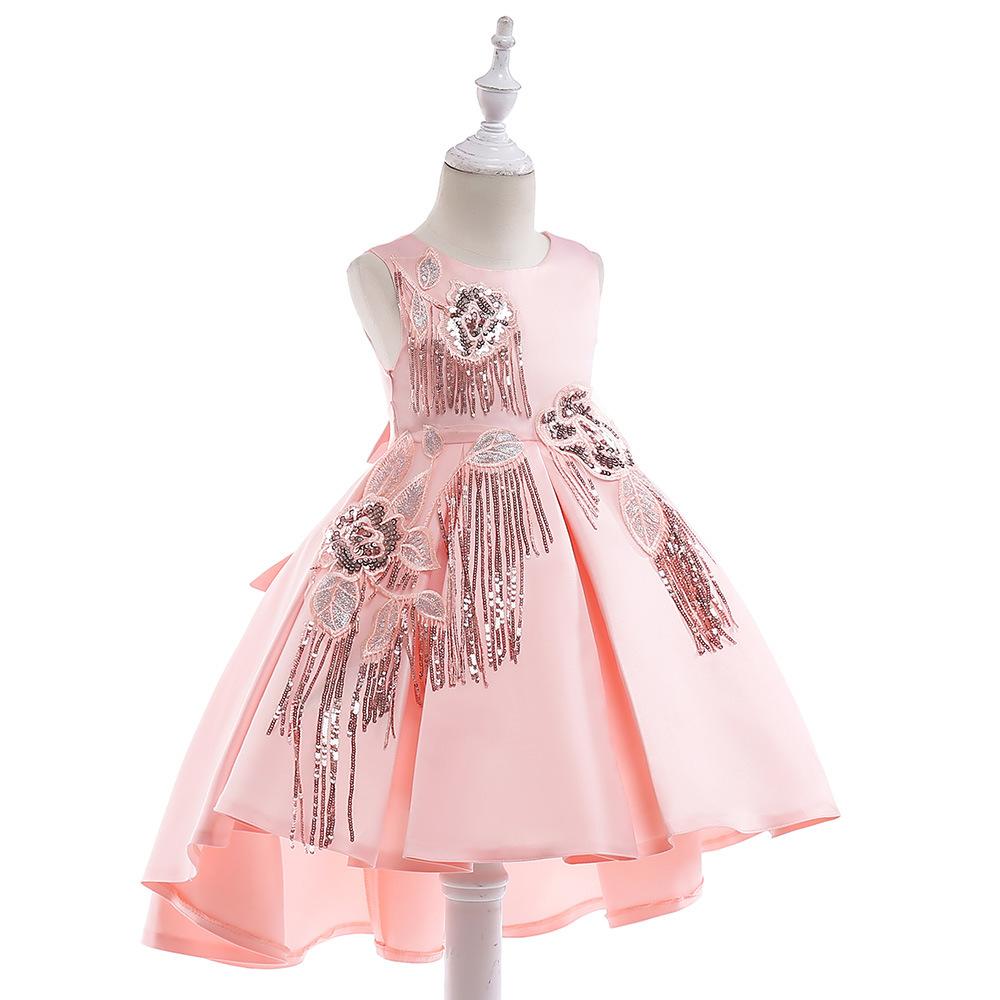 Baby Kids Girls Toddler Print Sleeveless Tassels Party Princess A-Line Dress