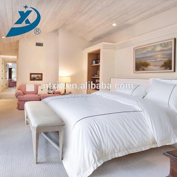 Hot Selling Jacquard White Satin Bed Sheet Quality Fabric For Hotel Bed  Sheet Jacquard Hotel Linen