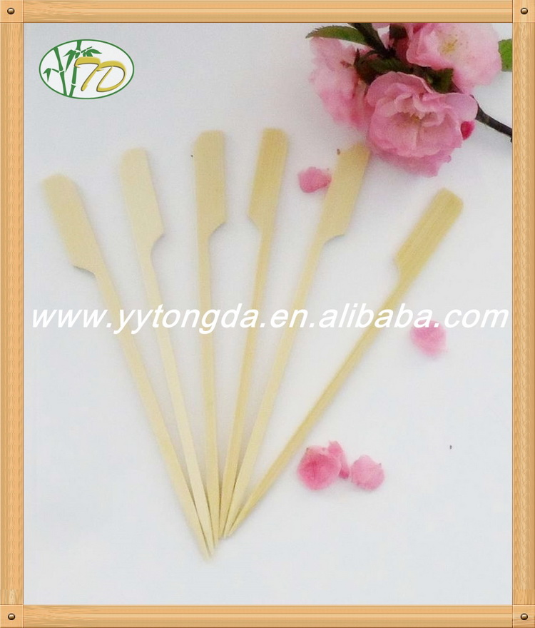 China gold supplier customized flower knotted bamboo skewer wholesale