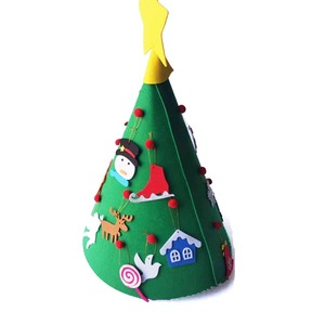 Diy Hand-work Christmas artificial tree felt decoration Christmas Tree for sale
