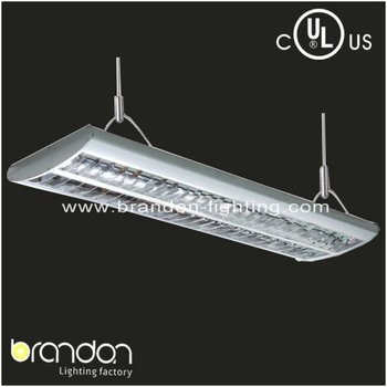 Ul 4ft 4x28w T5 Indoor Grille Office Hanging Light Fixture With ...