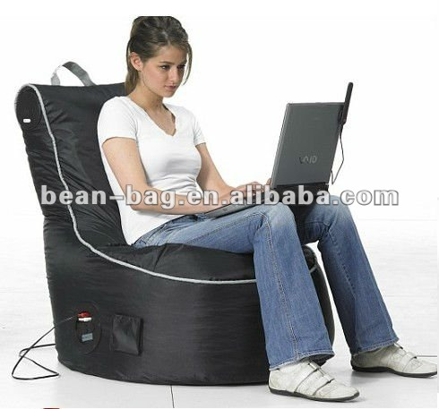 Audio beanbag chair with speakers