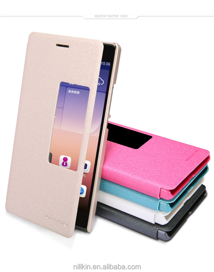 For Huawei Ascend P7 NILLKIN Sparkle Mobile Flip Case