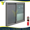 Hot sale style 10 years guarantee aluminium frame sliding glass window with mosquito net
