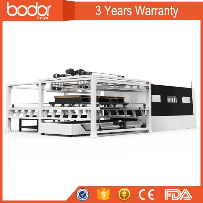 Closed type laser metal cutting machine with Exchange table