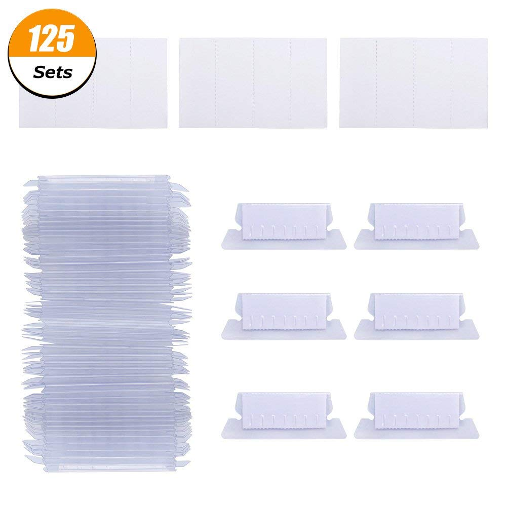 "125 Sets Hanging Folder Tabs and Inserts for Quick Identification of Hanging Files, 2"" Hanging File Inserts to Read Easily"