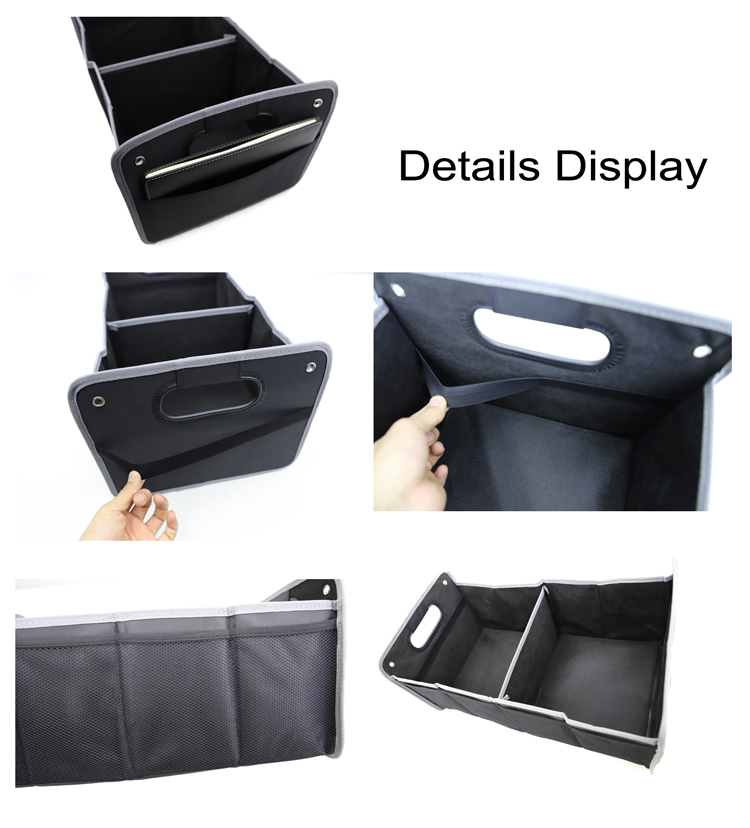 Promotional Big Capacity Cargo Storage Container Sturdy Folding Car trunk Auto Organizer With Tote