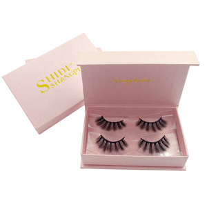 Wholesale your own brand 3d mink lashes vendor silk false eye lashes  private label custom packaging box faux 3d mink eyelashes