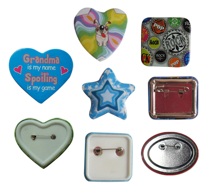 OEM Heart Shaped Button Badge, View button badge, TG Product Details from  Wenzhou Tiange Printing Co , Ltd  on Alibaba com