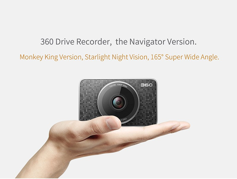 "360 Monkey King J511 3"" LCD FHD 1080P 165 Wide Angle Dashboard Camera Recorder with parking monitoring,night vision,G-Sensor, E-"