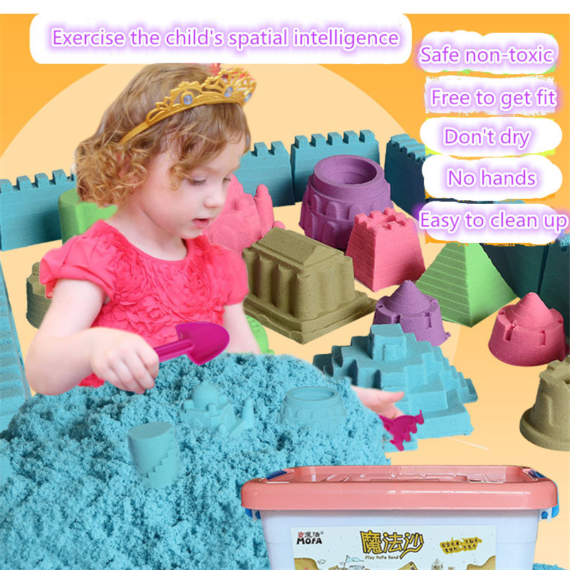 500g 6pcs 8pcs mould tools dynamic amazing DIY educational toys a indoor play magic sand Mars