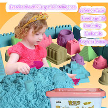 500g+6pcs / 8pcs mould tools dynamic amazing DIY educational toys a indoor play magic sand Mars 7 color space toys for children