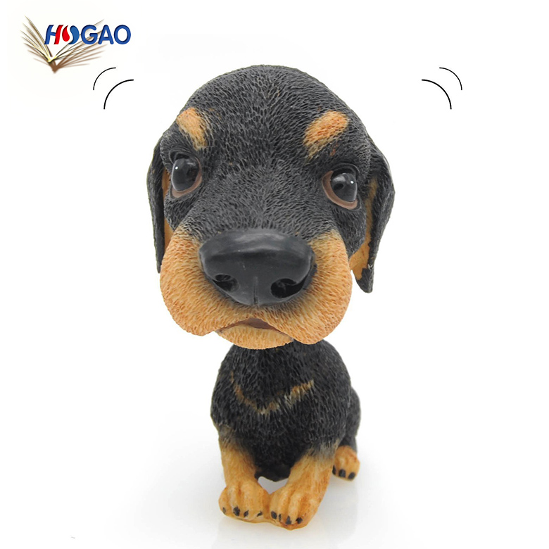 Factory direct sale make your own design custom polyresin dog animal bobblehead for home