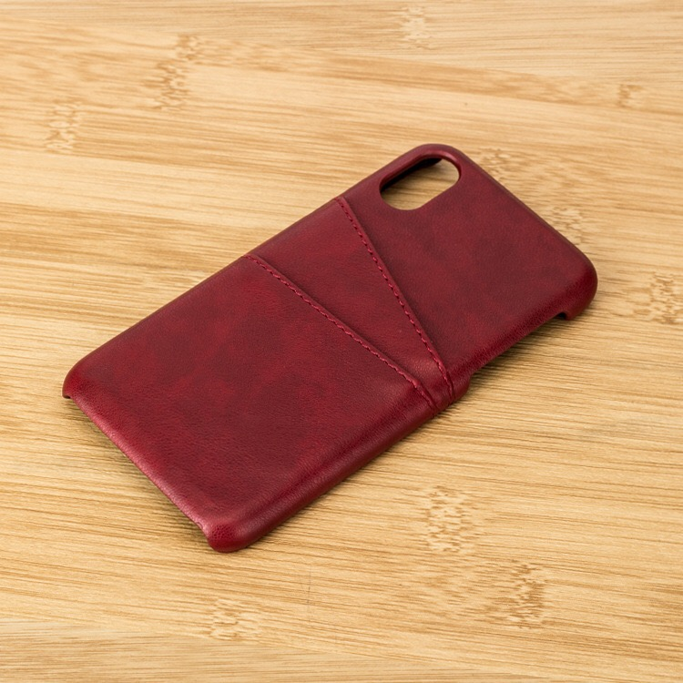 For iphone X leather Card Slots Cover back case