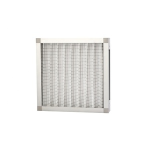 Industrial air filter pre-filter folding washable aluminum frame air filter