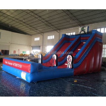 Captain america movie cartoon theme inflatable water slide with pool for kids and adults