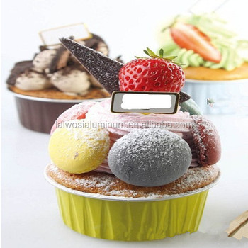 Coated Aluminum Foil Cake Cup For Cake Display