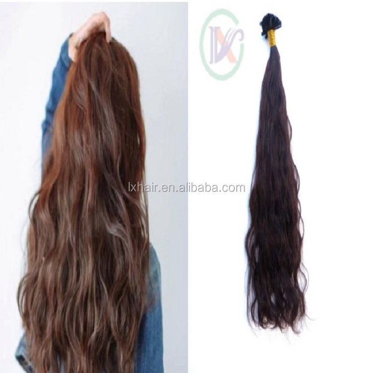 China suppliers wholesale accept custom I Tip remy real human hair weaves body wave