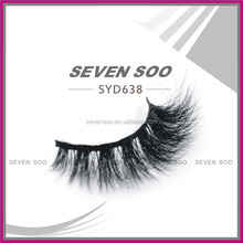 High quality real mink lashes strips 3d mink false eyelashes