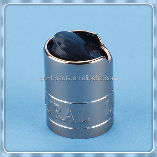 18/415 aluminum press cap /disc top cap with logo