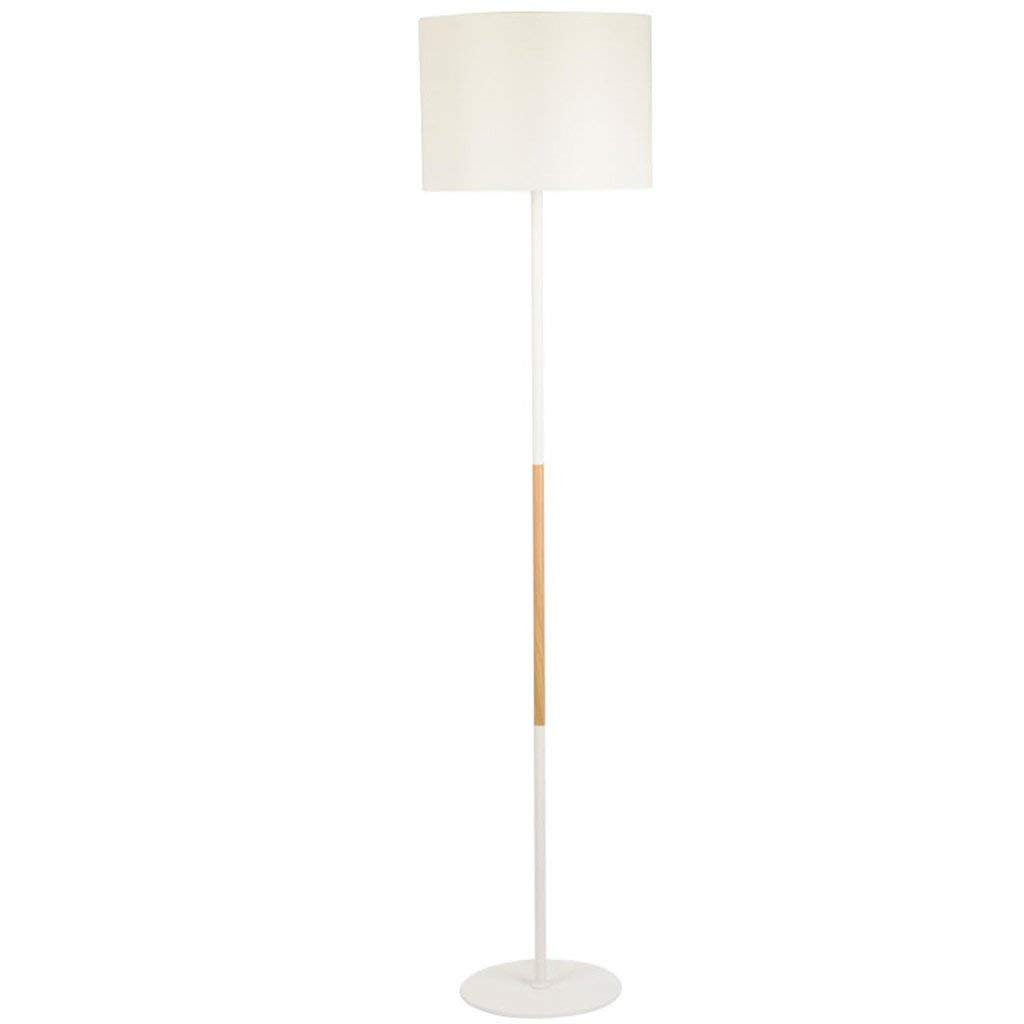 Simple Modern Style Floor Lamp, Living Room Bedroom Bedside Study Fabric Lampshade Vertical Sofa Lamp Floor Lamp