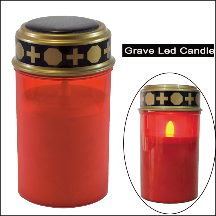 LED Grave Candle Eternal Light With Batteries Flicker Effect
