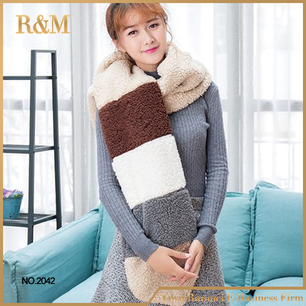lady's fashion new style rabbit fur scarf