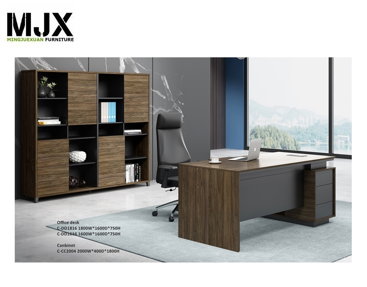 Competitive office executive L-shape manager table for office room