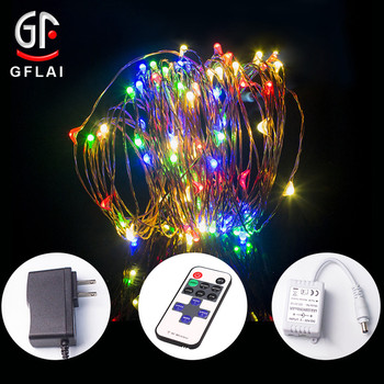 10M 33Ft 100Lights Amazon Hot Sale RF Remote Control Led String Lights