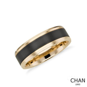 8mm Rings For Men Two Tone Black Gold Wedding Band High Polished Engagement Band Size 4 to 15