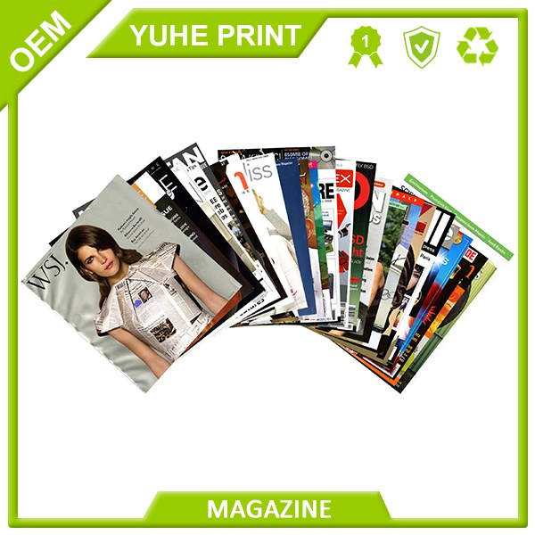 New design adult men's magazine  book printing service
