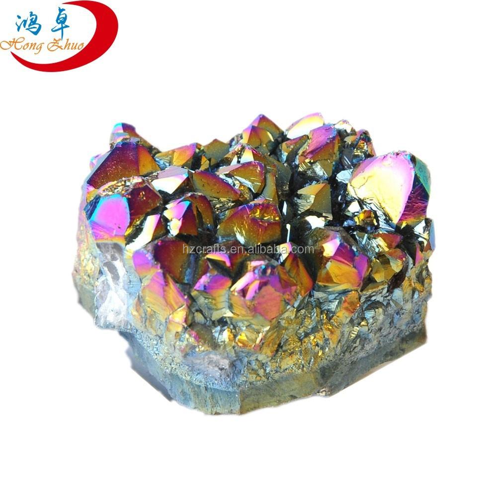 Decorative Quartz Rocks Decorative Large Rock Quartz Rainbow Crystal Clusters For Sale