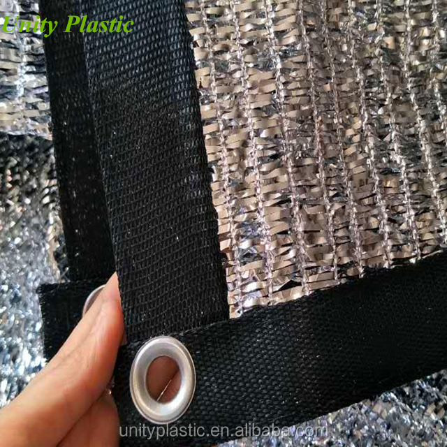 Aluminum shade net, greenhouse shade screen 65% aluminum Foil Aluminum Shade Cloth 50% for sale
