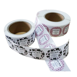 Fancy Waterproof Self Adhesive Waterproof Vinyl Label Rolls,Custom Permanent Adhesive Logo Sticker Label for Glass