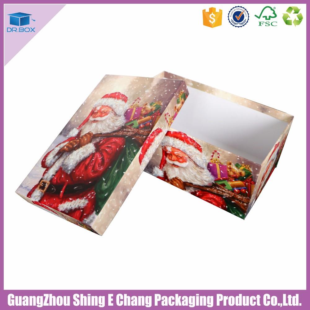 New custom handmade cmyk printed christmas gift boxes with