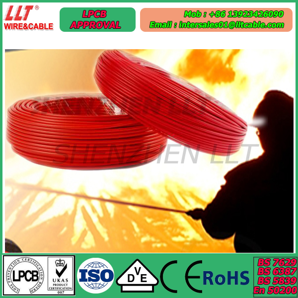 quality first fire resistant cable 2C 1.5MM UL recommended fire rated