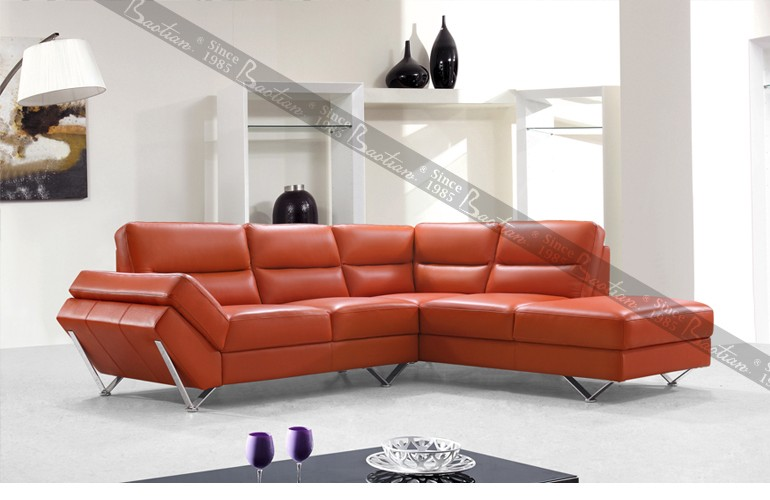 Extra Long Leather Sofa Green