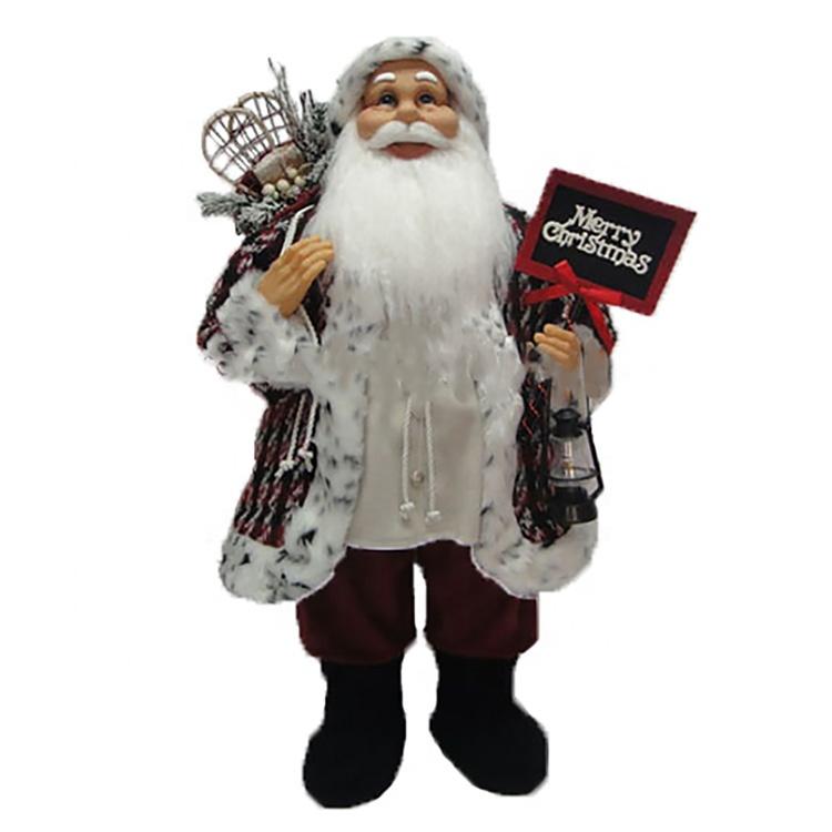 80 Cm Tradicional Pé Pai Natal Papai Noel De Pelúcia Figurinhas Natal Decoração Com Giftbag Buy Em Pé De Natal Santa Claus Com Giftbagpé Papai Noel