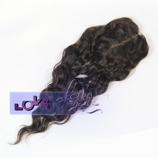 Best Quality 7A Peruvian Loose Wave Virgin Hair centre Part Silk Base Closure Hair in Size 3x5 Natural Color
