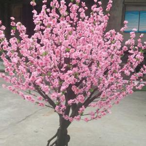 Factory wholesale home and office decorative artificial small pink peach flower tree artificial peach flower tree artificial tre
