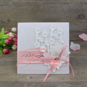 Elegant Handmade Flower Decoration Wedding Invitation Cards Buy