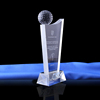 custom Golf Trophy Crystal Awards For Business Gifts