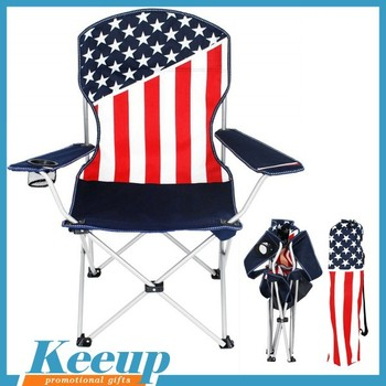 Captivating Promo Items Cheap Outdoor Camping Beach Folding Set American Flag Chair