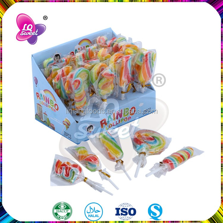Fruit flavor funny Swirl lollipop for children candy
