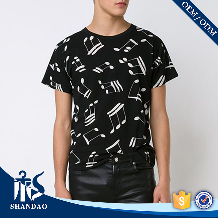 Guangzhou shandao factory o-neck short sleeve180g 100%cotton mens discharge printing embroidered casual shirts