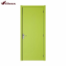 European Modern Style Plain Flats Green Lacquer Flush Internal Hotel Room Doors